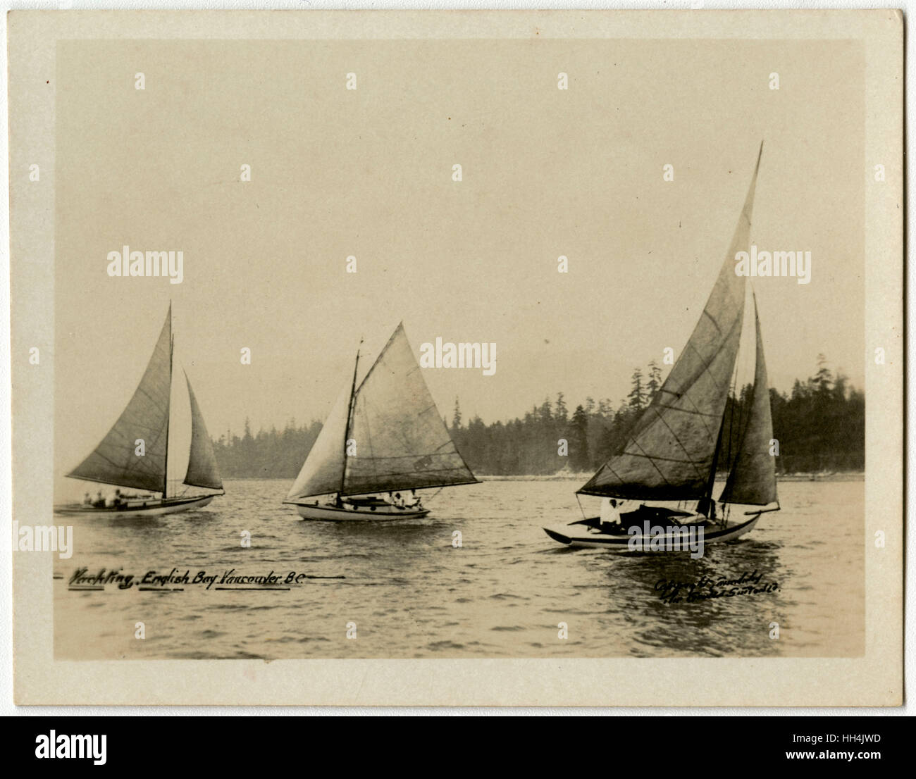 Vancouver, British Columbia, Western Canada - Yachting in the English Bay. - Stock Image