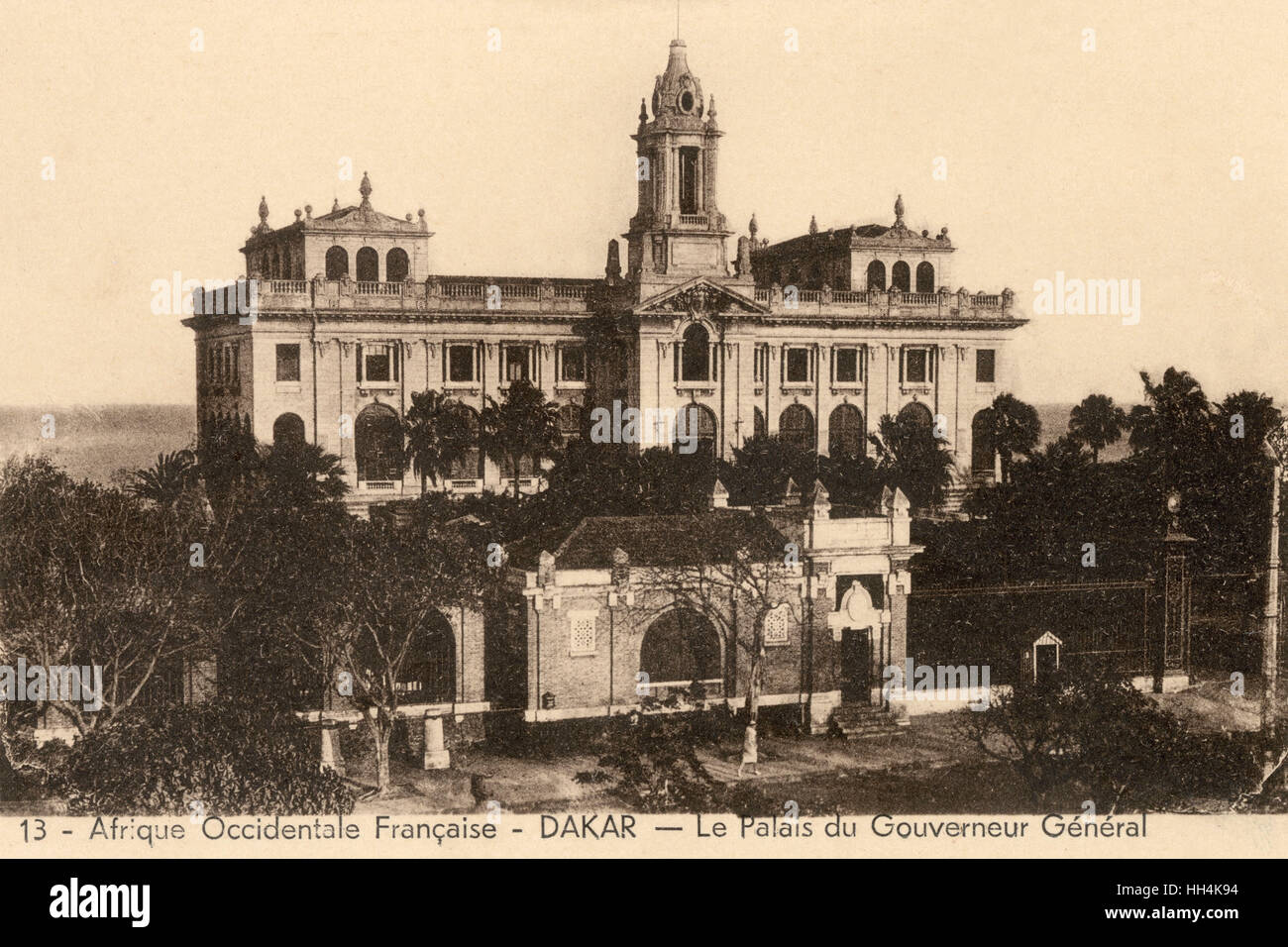Palace of the General Governor of French West Africa in Dakar, Senegal. - Stock Image