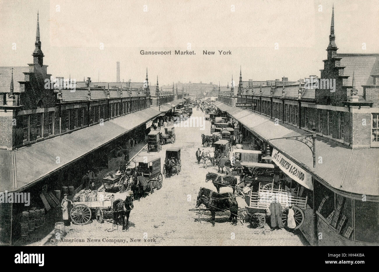 The Gansevoort Market is located in the Meatpacking District in New York City.  For decades it was a market hosting - Stock Image