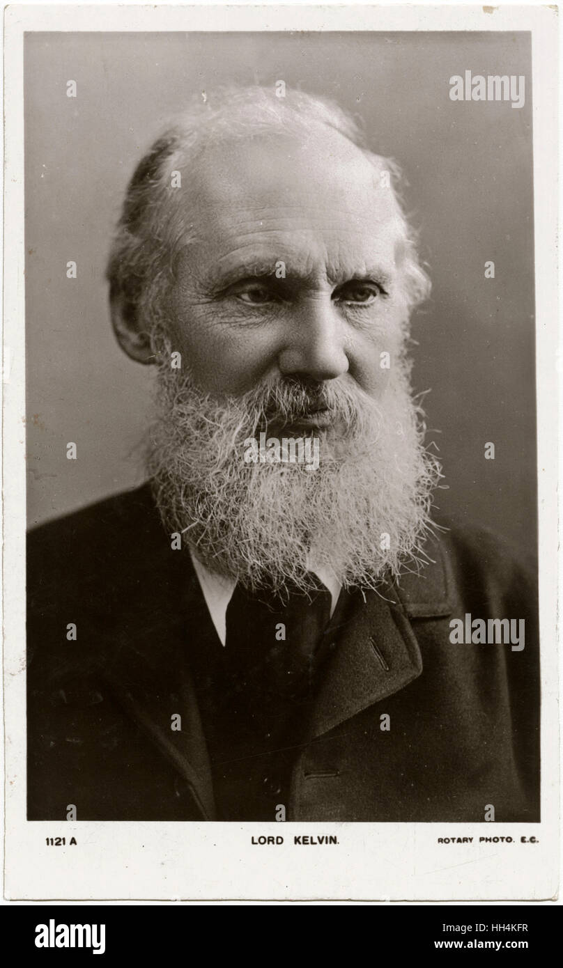 William Thomson, 1st Baron Kelvin (1824-1907) - a Scotch-Irish mathematical physicist and engineer. - Stock Image