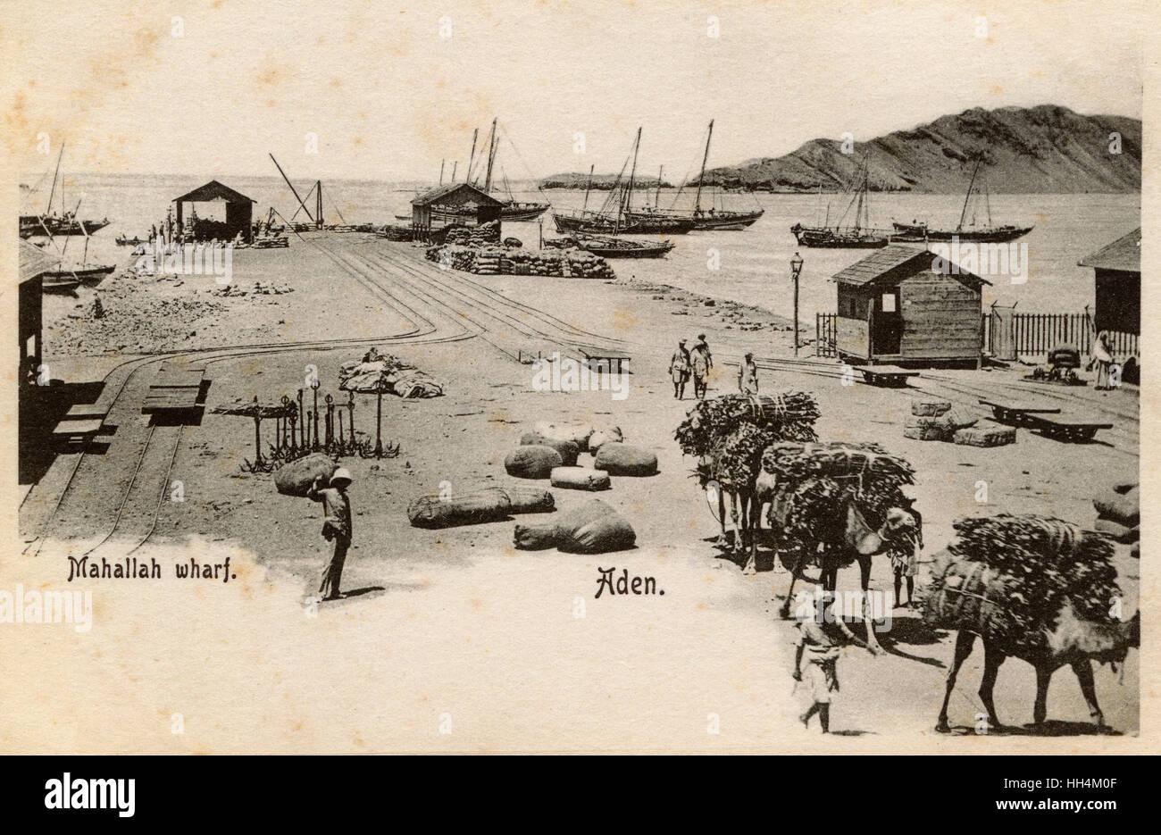 Mahallah Wharf - Aden, Yemen - Stock Image