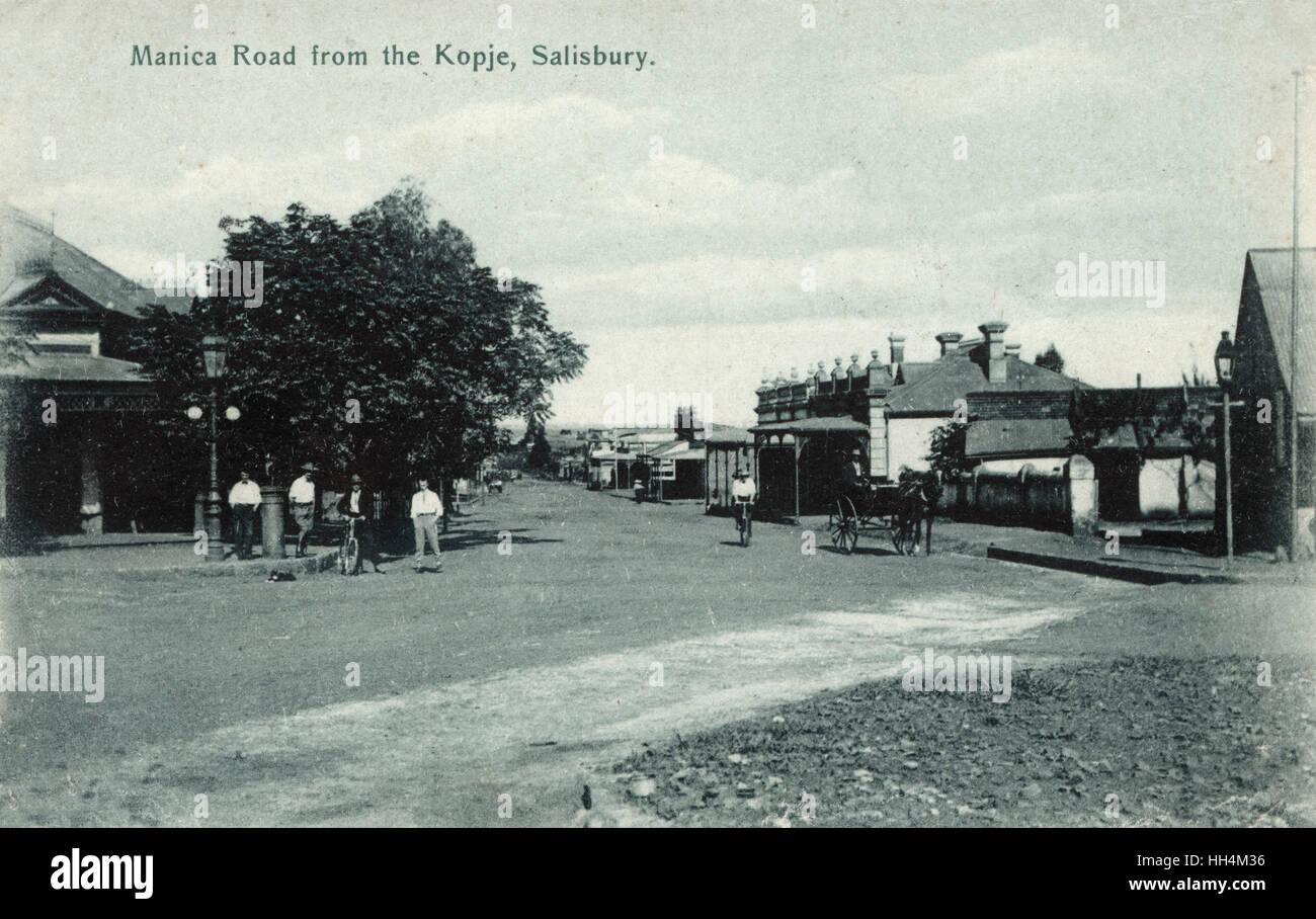 Manica Road, Salisbury (now Harare), Southern Rhodesia (now Zimbabwe). - Stock Image