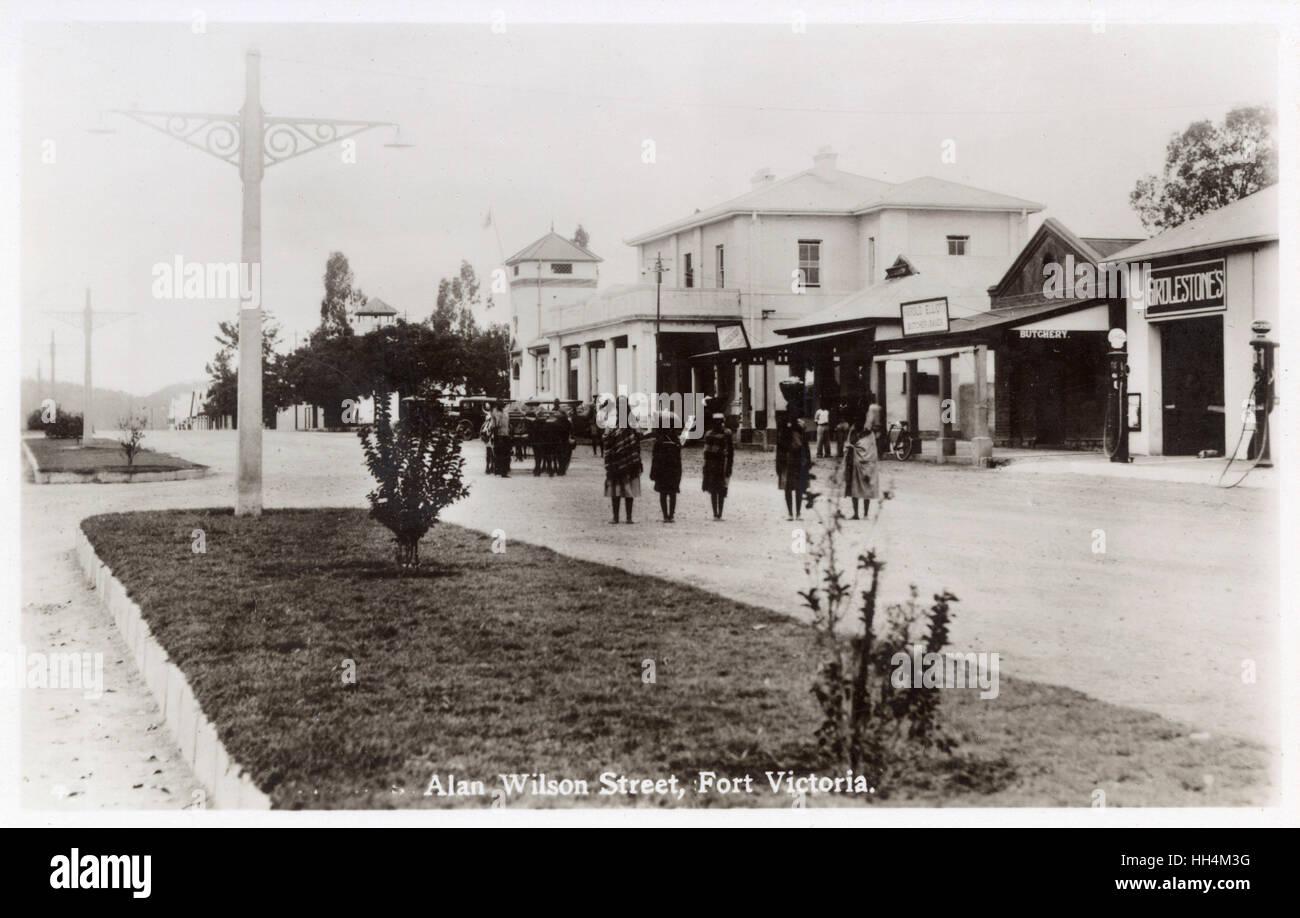 Alan (Allan) Wilson Street, Fort Victoria, Southern Rhodesia (now Zimbabwe). - Stock Image