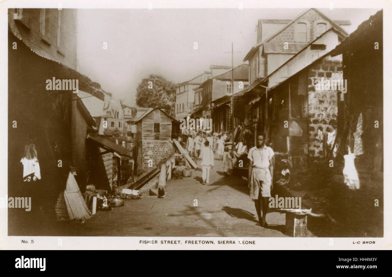 Fisher Street, Freetown, Sierra Leone, West Africa. - Stock Image
