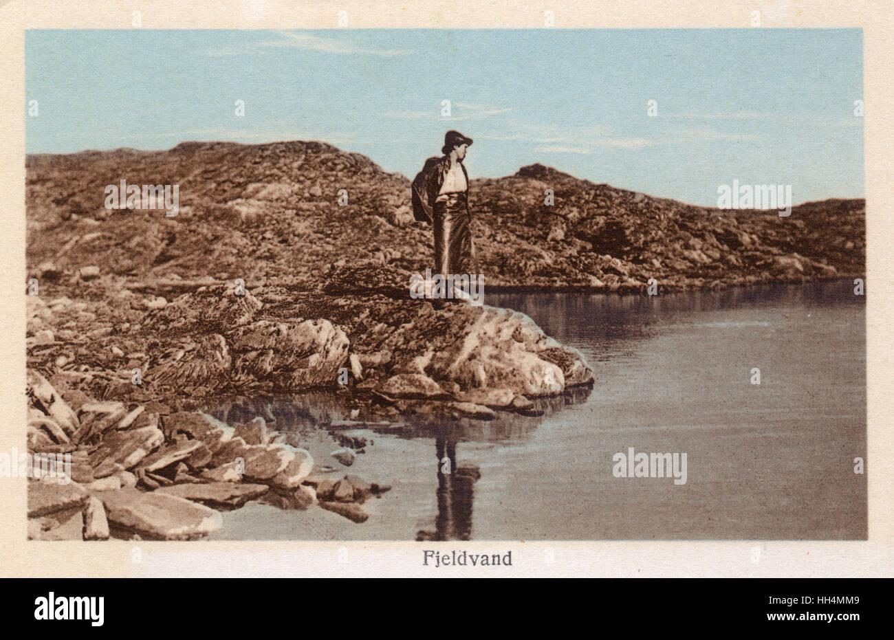 Fjeldvand (Fjeld Vand, Fjellvatnet), Norway. - Stock Image