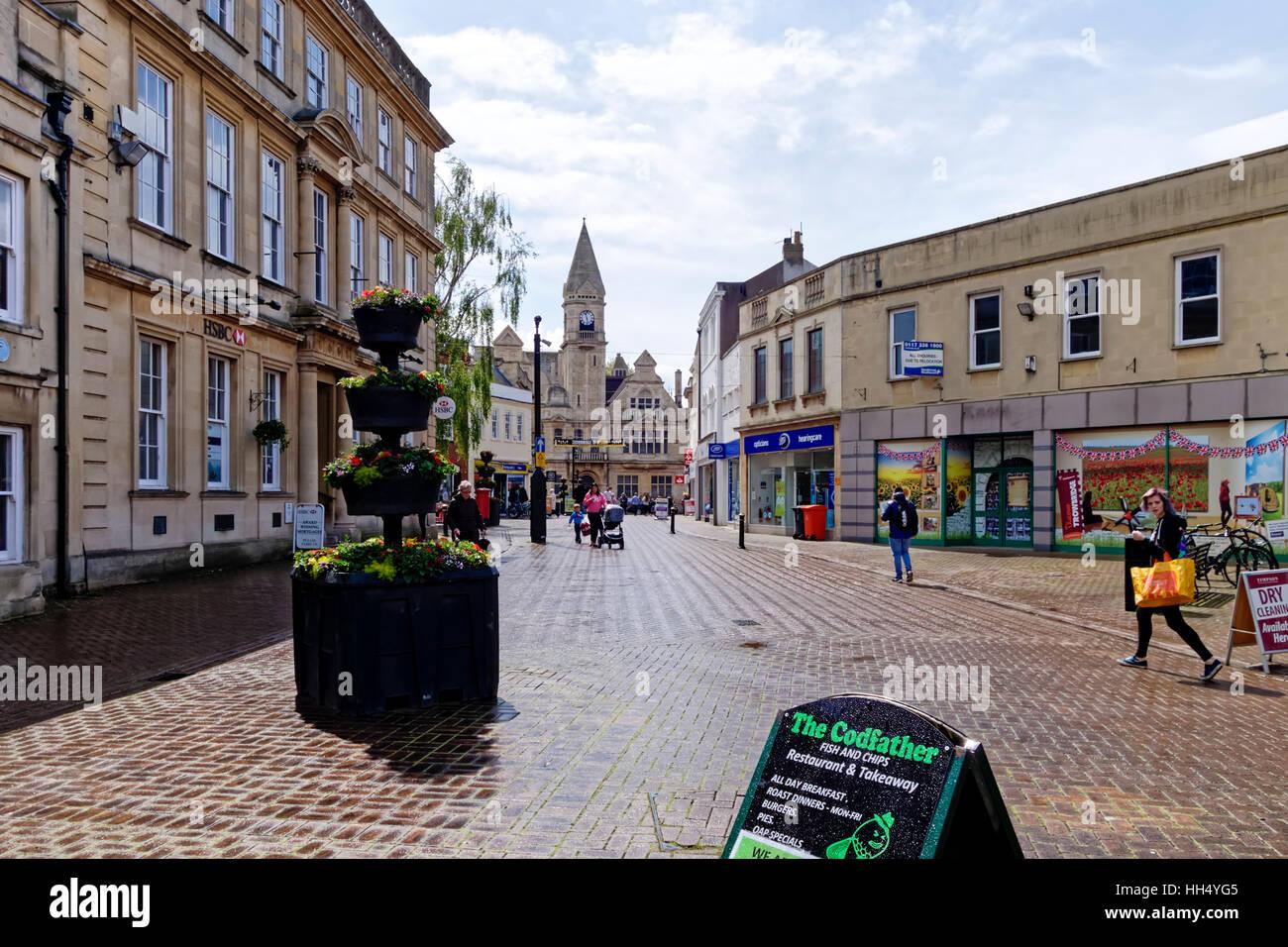 Fore Street, Trowbridge, Wiltshire, United Kingdom - Stock Image