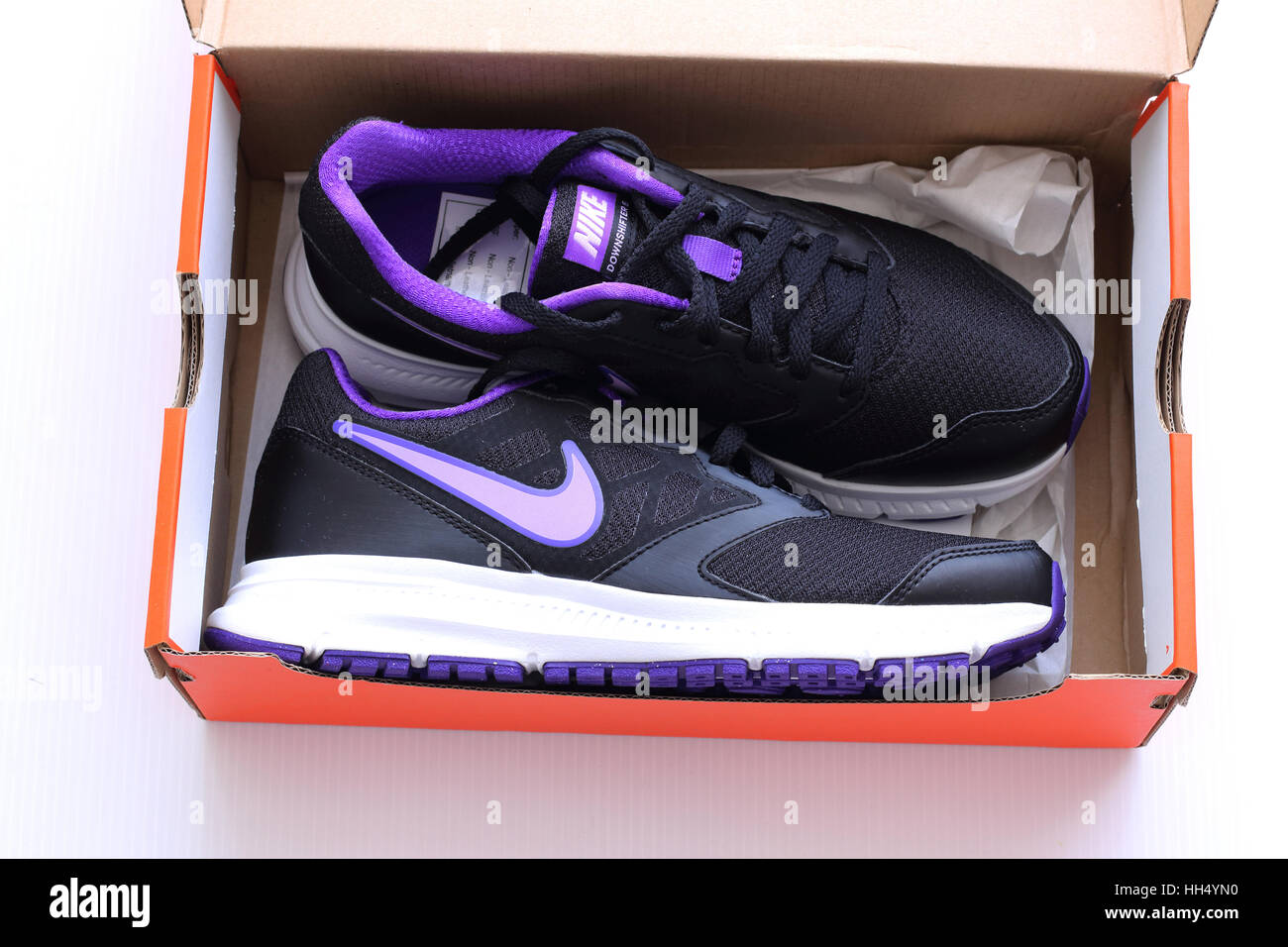 a10d35ecee1a Close up of Nike shoes Stock Photo  131031292 - Alamy