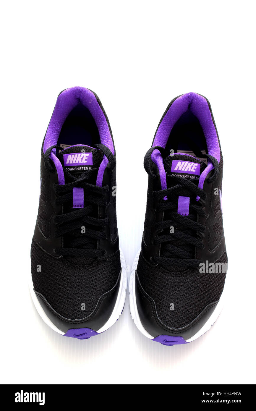 79fb710d4ce2 Close up of Nike shoes Stock Photo  131031317 - Alamy