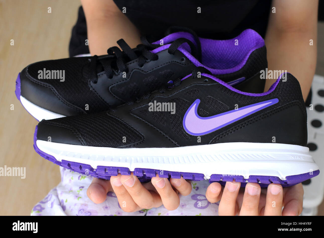 b1880fd97a92 Close up of Nike shoes Stock Photo  131031363 - Alamy