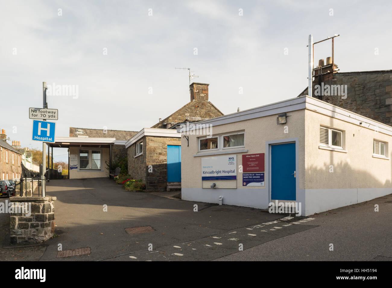 Kirkcudbright community hospital, Barrhill Road, Townend, Kirkcudbright, Dumfries and Galloway, Scotland, UK - Stock Image