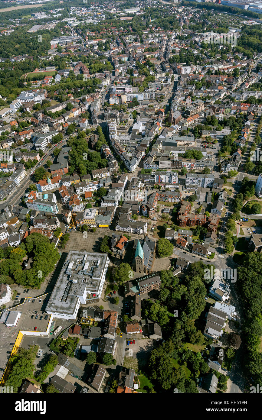Bochum, Wattenscheid, Bochum, Ruhr area, Germany, Europe, bird-eyes view, aerial photo, aerial photo, overview, - Stock Image