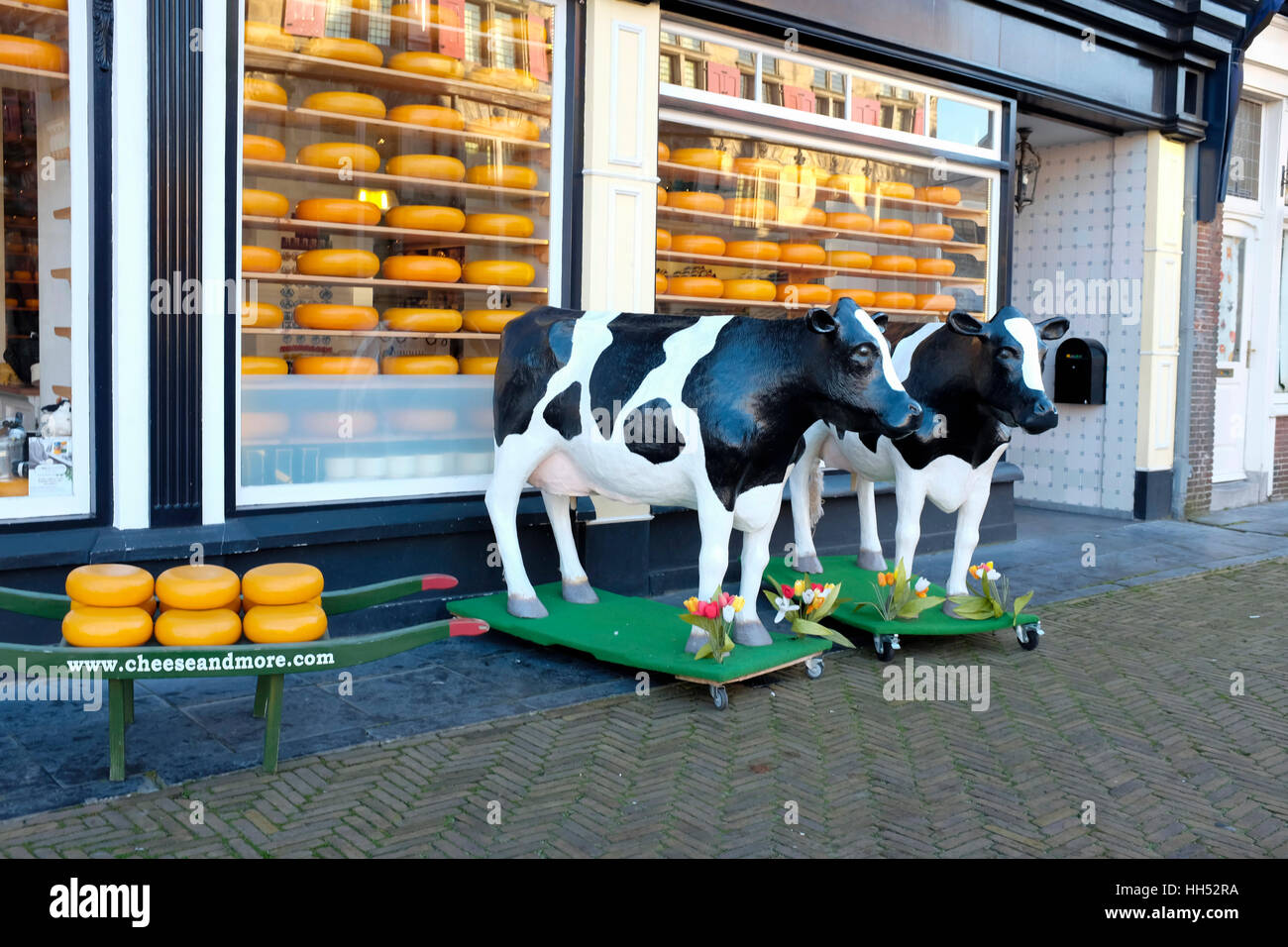 Dutch Cheese Shop, City of Delft, Netherlands. - Stock Image