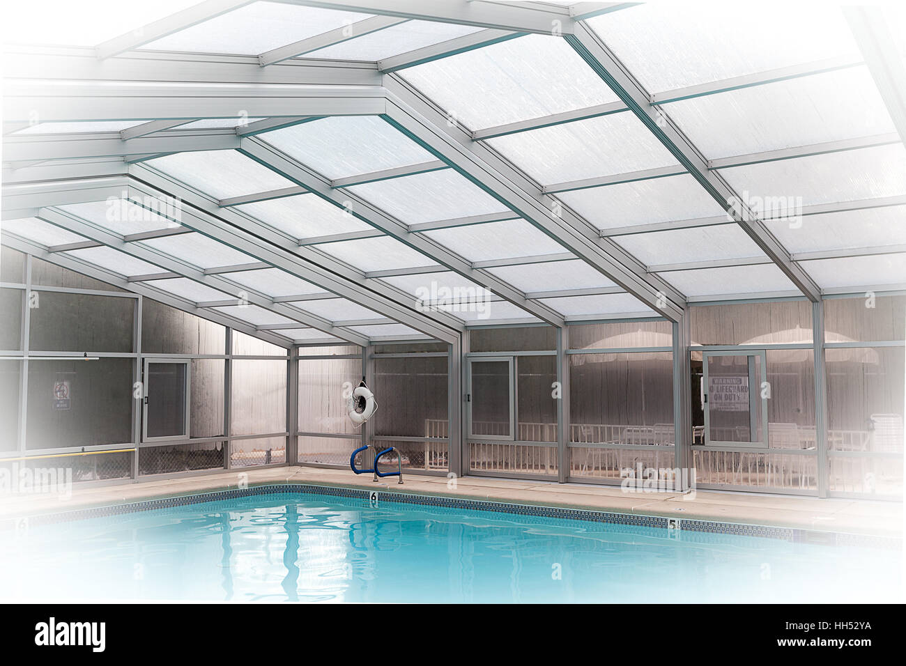 Enclosed covered swimming pool Stock Photo: 131033822 - Alamy