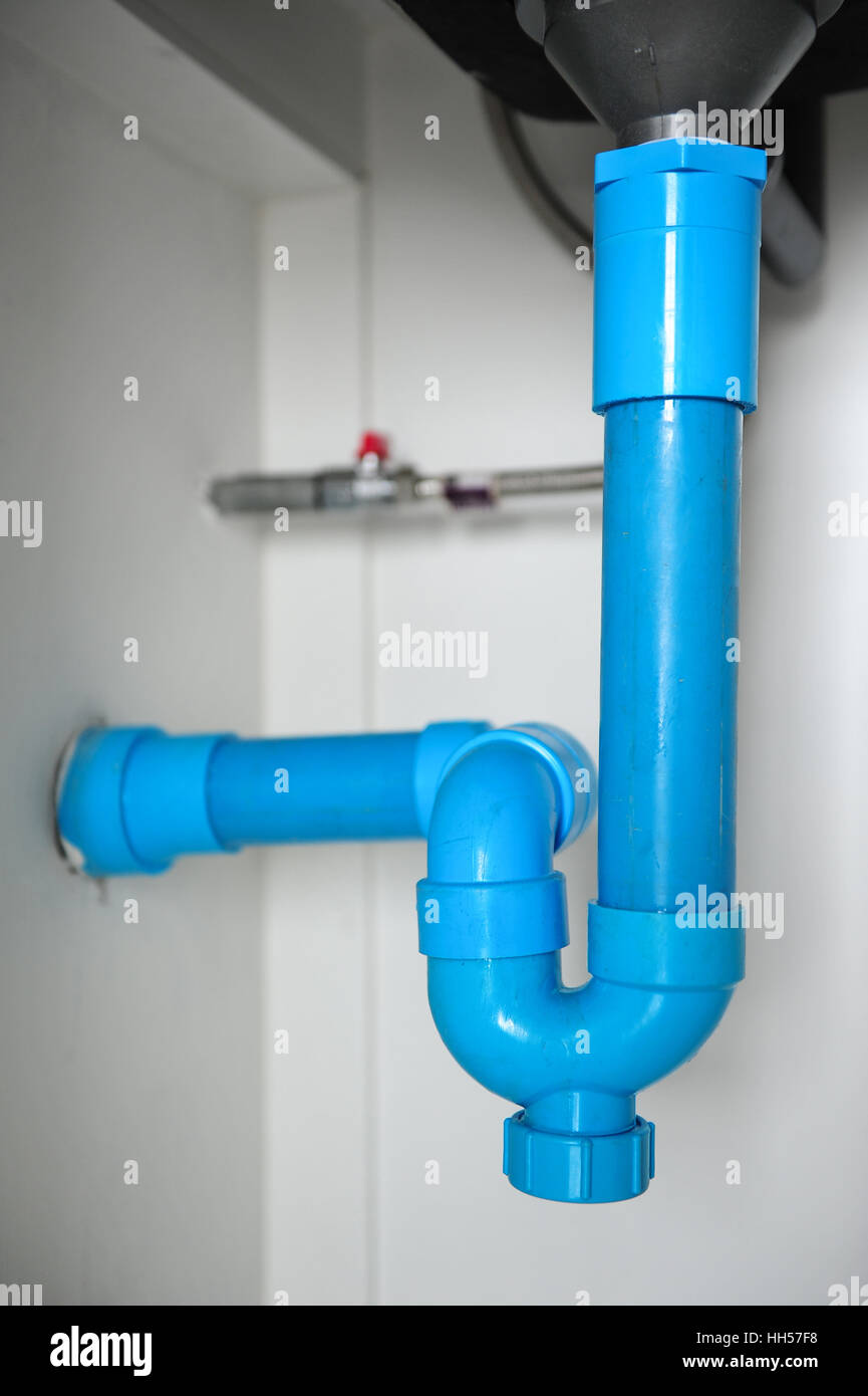 Pipes Under Sink Stock Photos & Pipes Under Sink Stock Images - Alamy