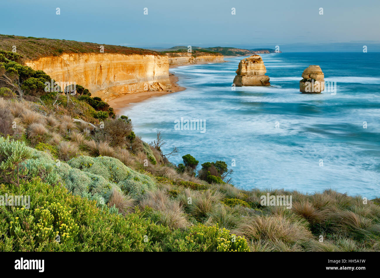 Two of 'The Twelve Apostles' at the Great Ocean Road. - Stock Image