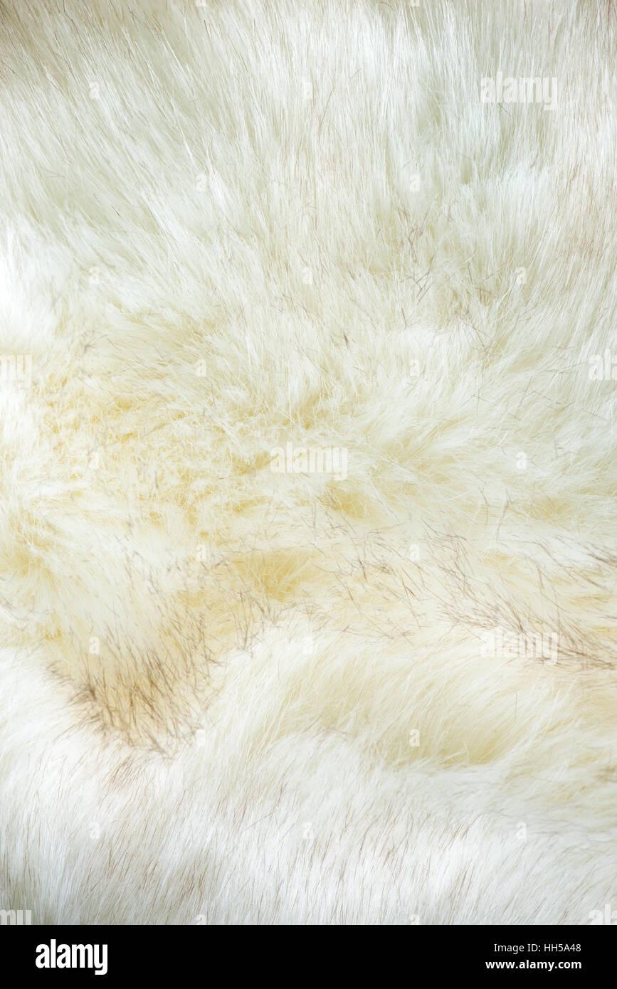 white artificial fur texture - Stock Image