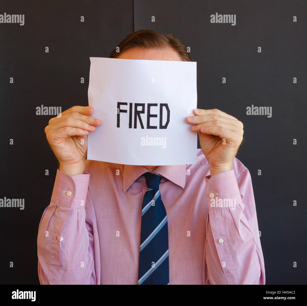 fired man - Stock Image