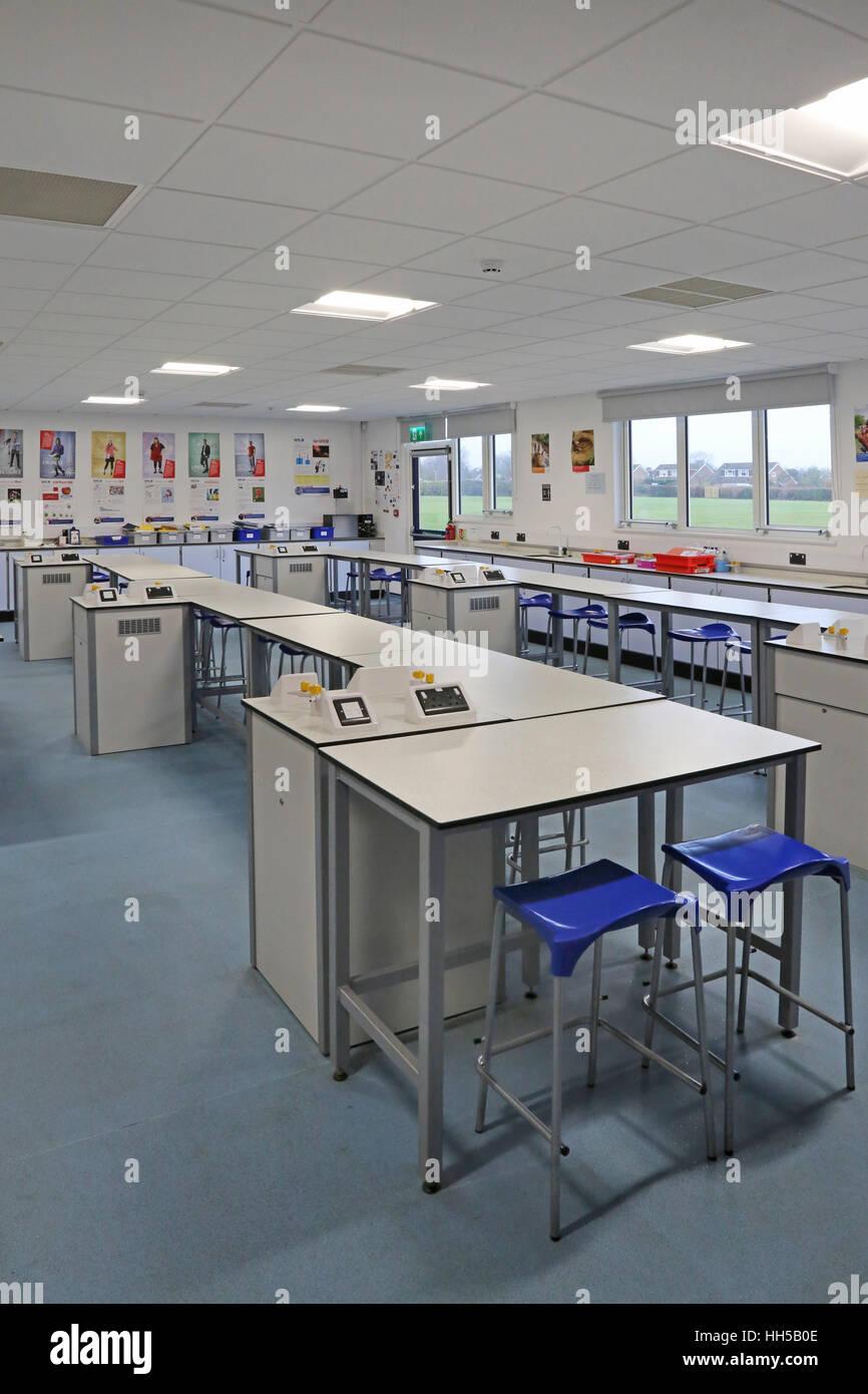 Modern Science Classroom ~ School classroom uk modern stock photos