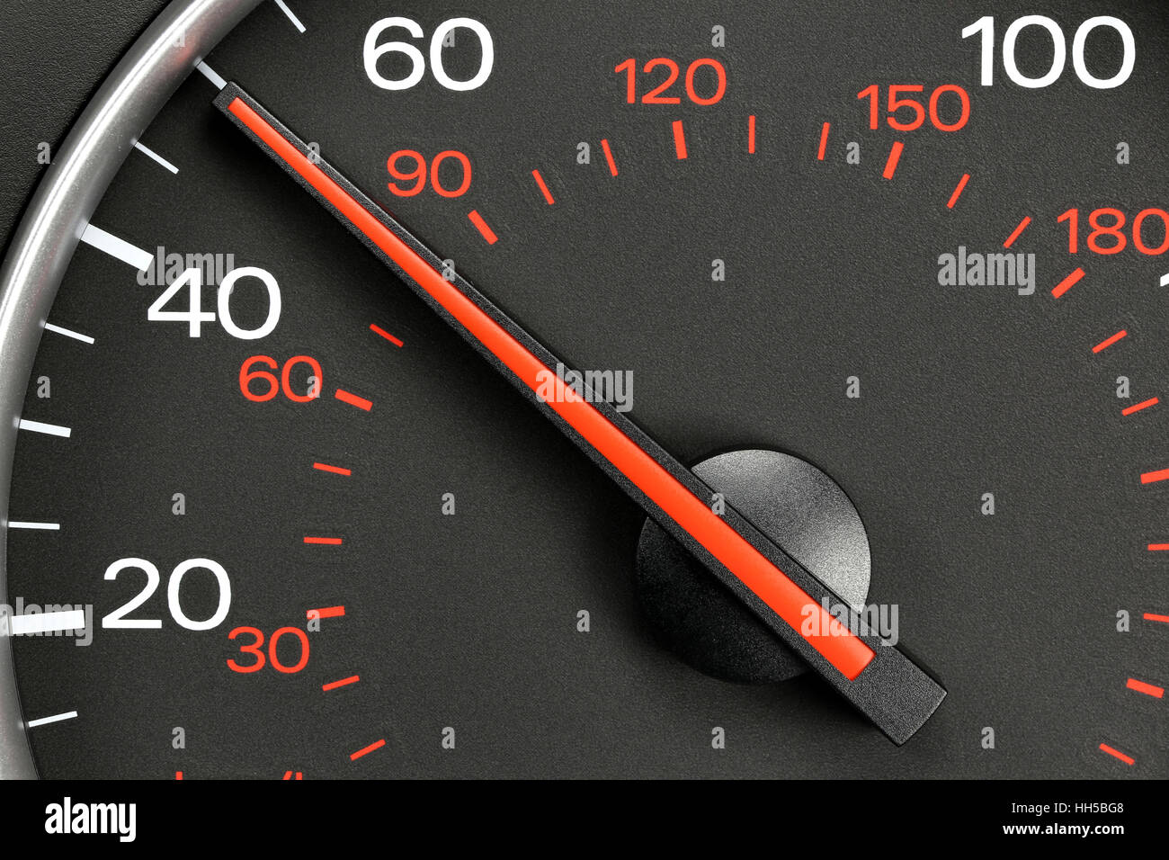speedometer at 50 MPH Stock Photo