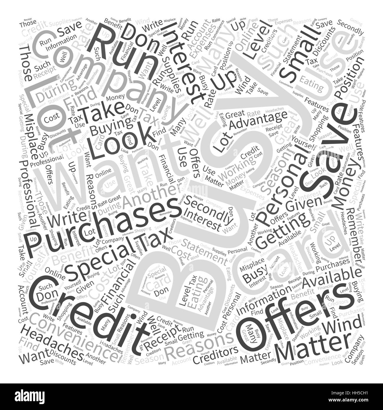 Credit card company black and white stock photos images alamy business credit card for word cloud concept stock image reheart Image collections