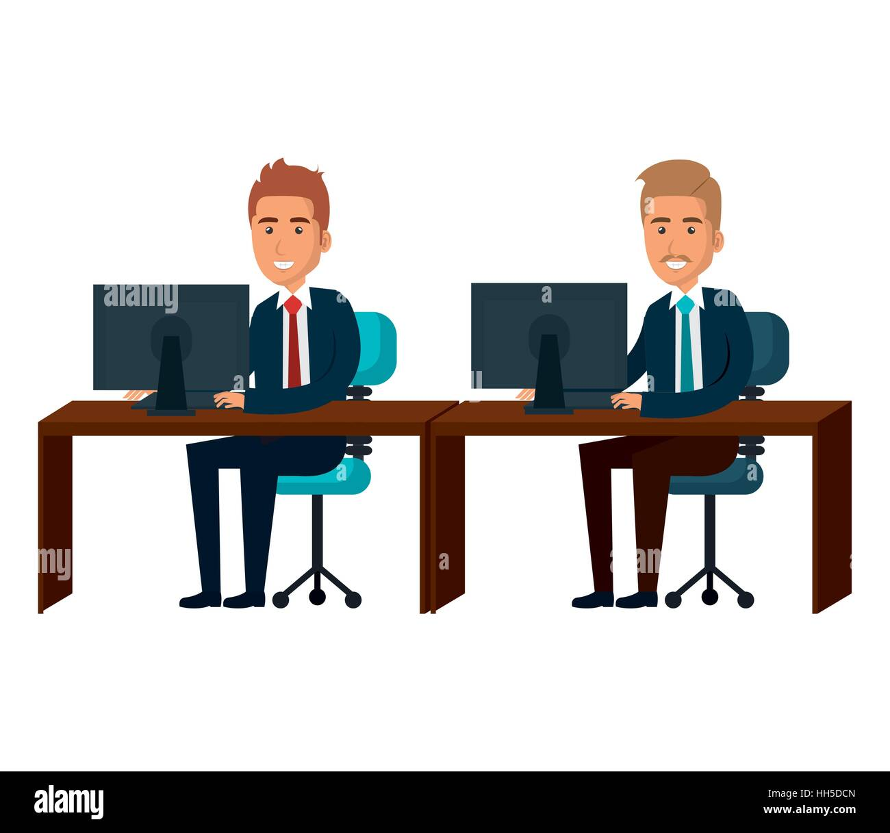bussiness people working icon vector illustration design - Stock Vector