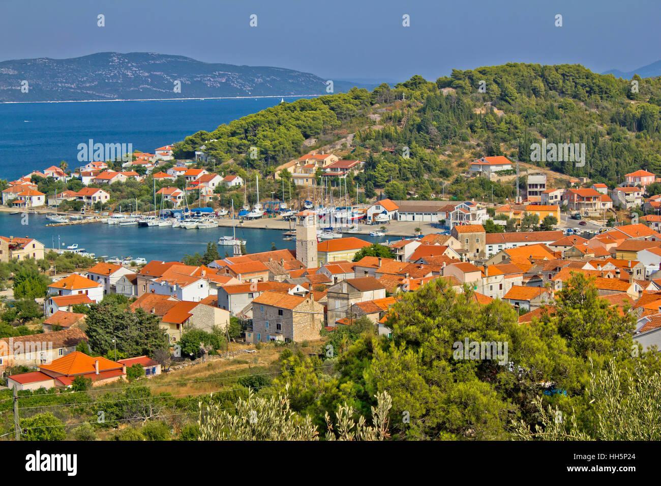 Adriatic coast - Veli Iz island, Dalmatia, Croatia - Stock Image