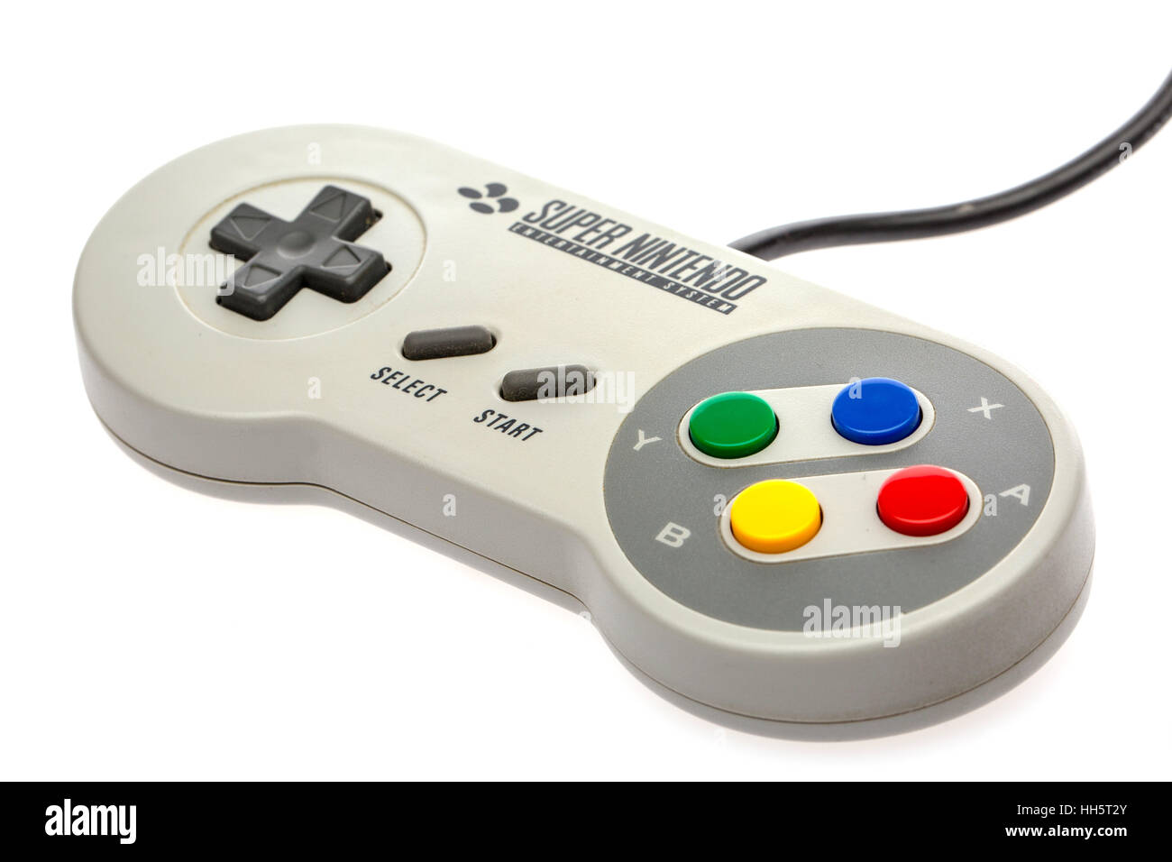 Super Nintendo Computer Game controller from the 1990's - Stock Image