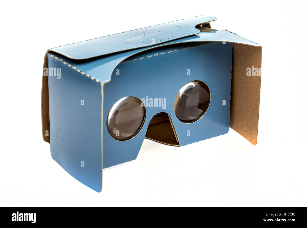 Cardboard VR virtual reality headset - Stock Image