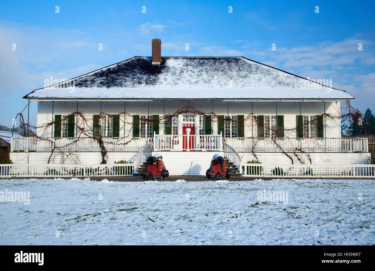 Chief Factor Residence, Fort Vancouver National Historic Site, Vancouver National Historic Reserve, Washington - Stock Image