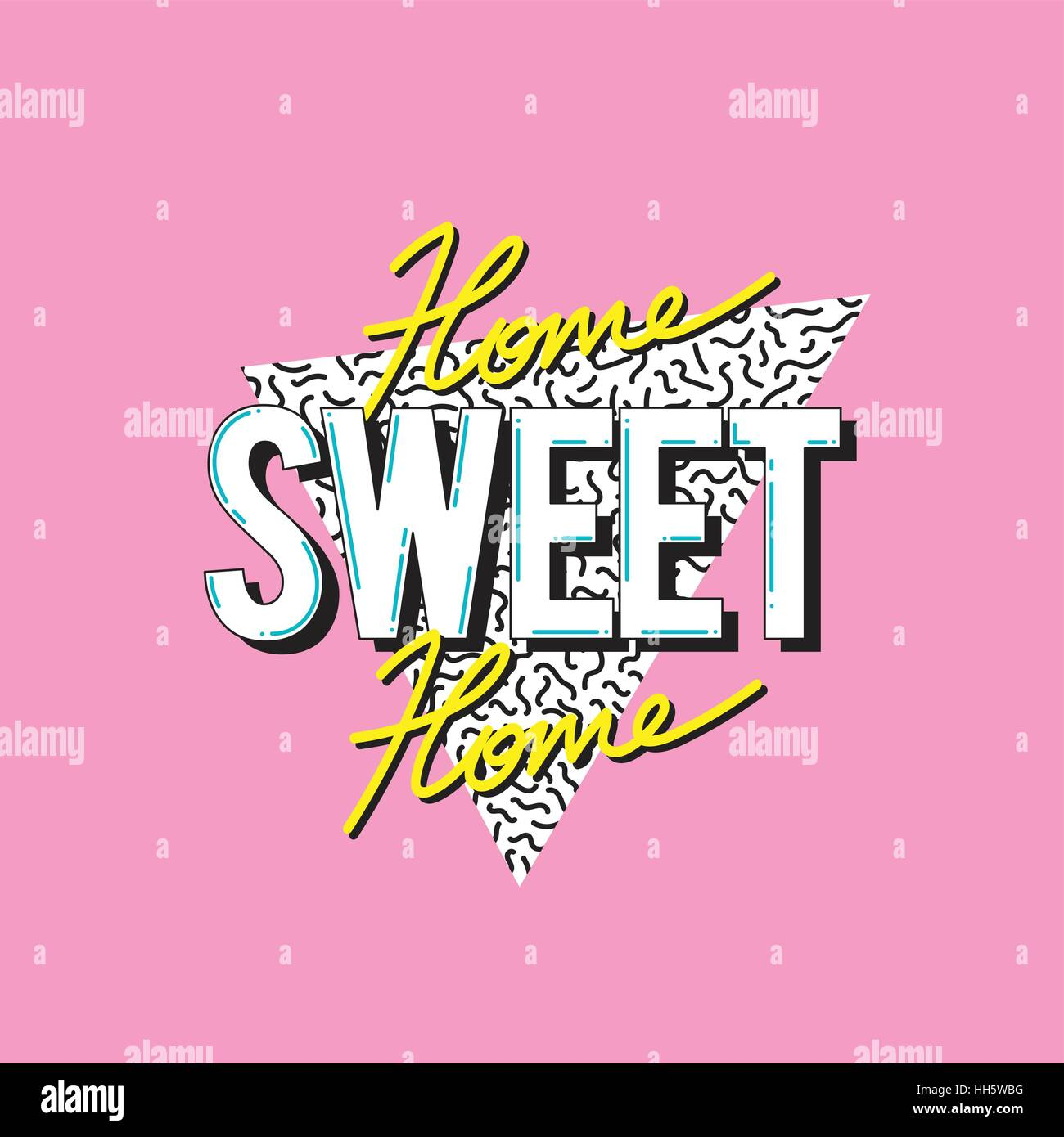 Home Sweet Home Word Design Concept - Stock Vector