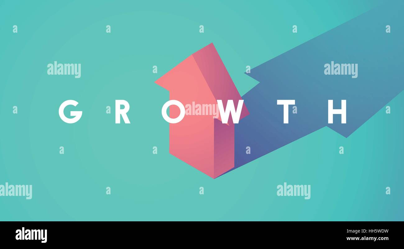 Growth Improvement Increase Arrow Up Icon - Stock Image