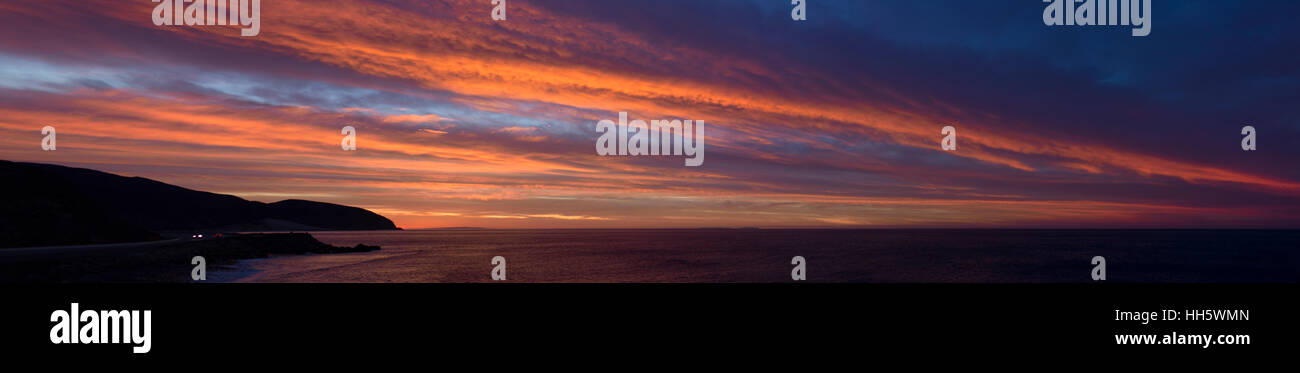 Early morning California sun rise as seen from Magu Rock - Stock Image