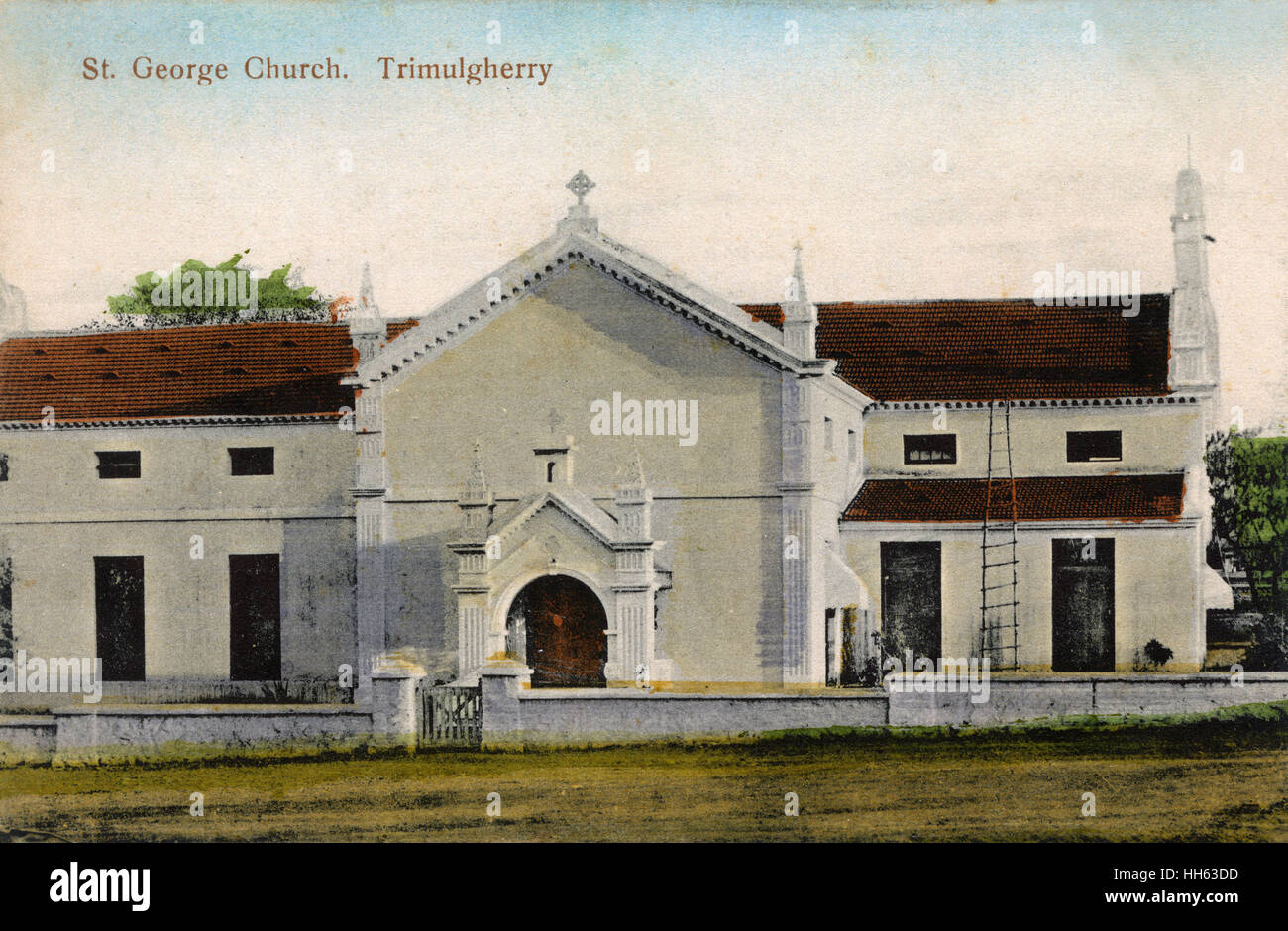 St George's Church, Trimulgherry (Tirumalagiri), suburb of Secunderabad, India. - Stock Image