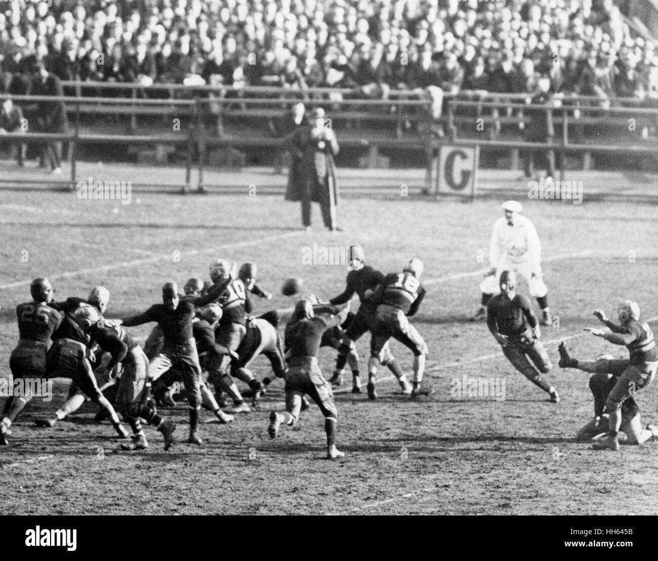 American football match between Army and Navy teams at the Yankee Stadium, New York City, USA, 12 December 1931. Stock Photo