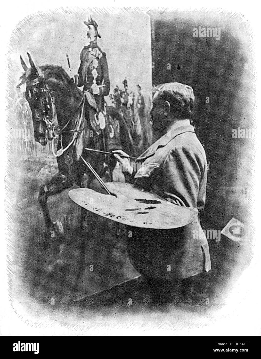 Richard Caton Woodville (1856-1927) painter of military scenes and artist for the Illustrated London News for the - Stock Image