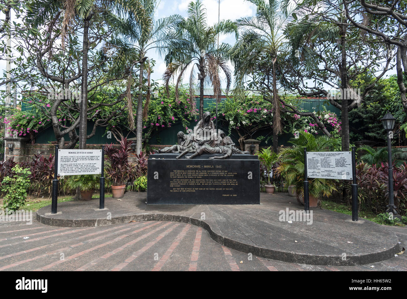 Plaza de Santa Isabel, Intramuros, Manila, Philippines Stock Photo