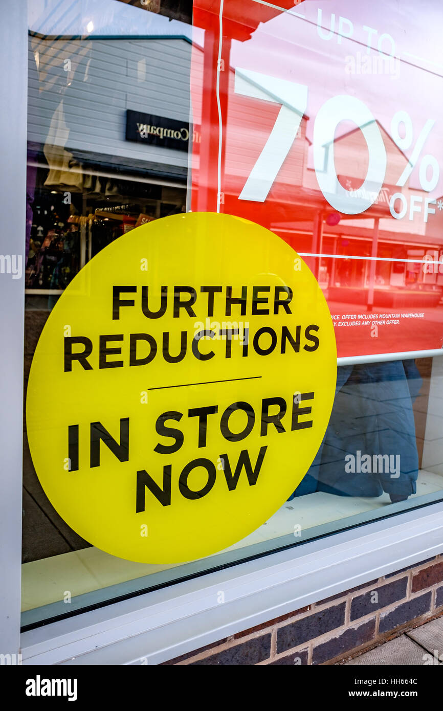 Reductions Sign Freeport - Stock Image