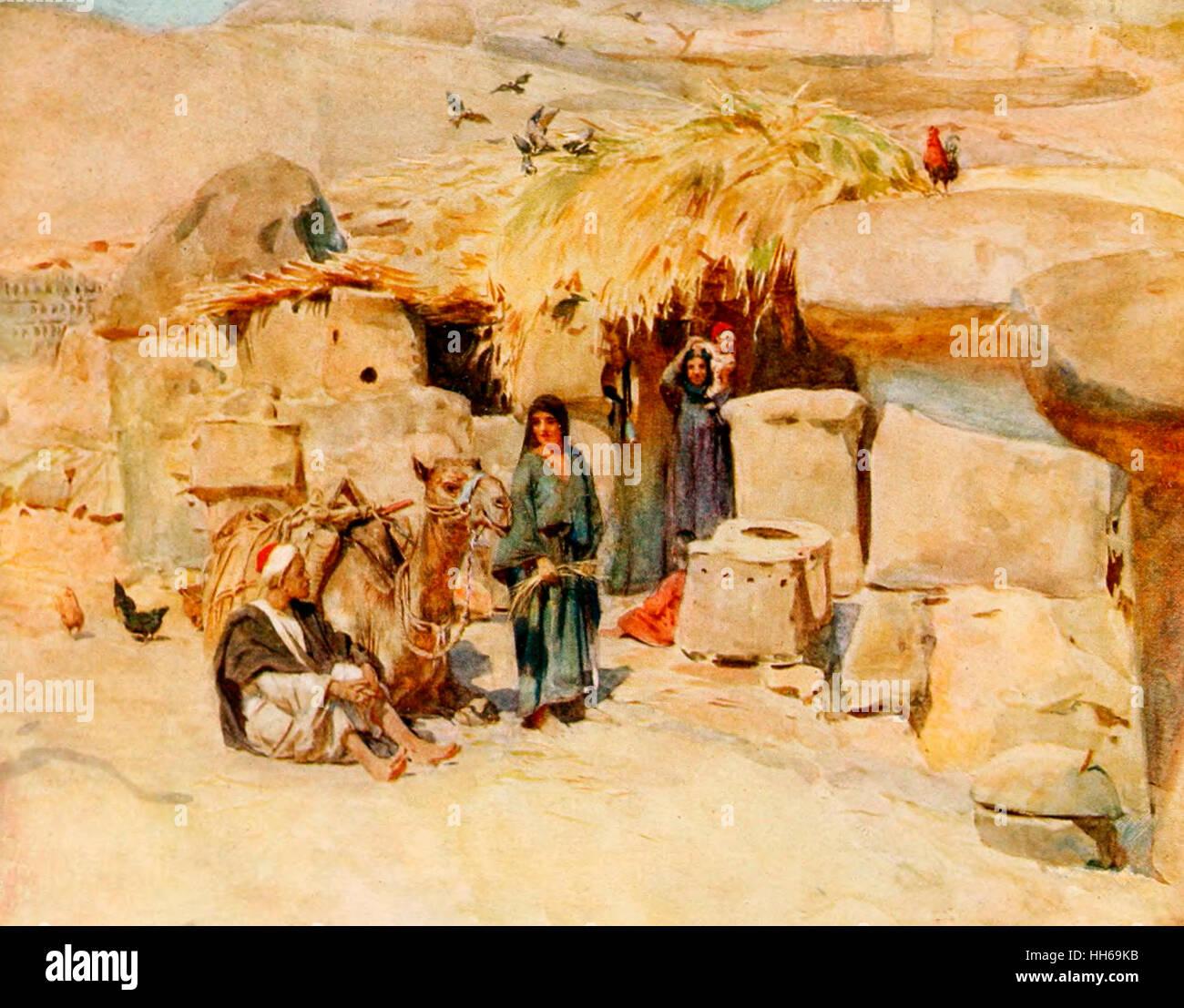 A Theban Homestead - Egypt, circa 1912 - Stock Image