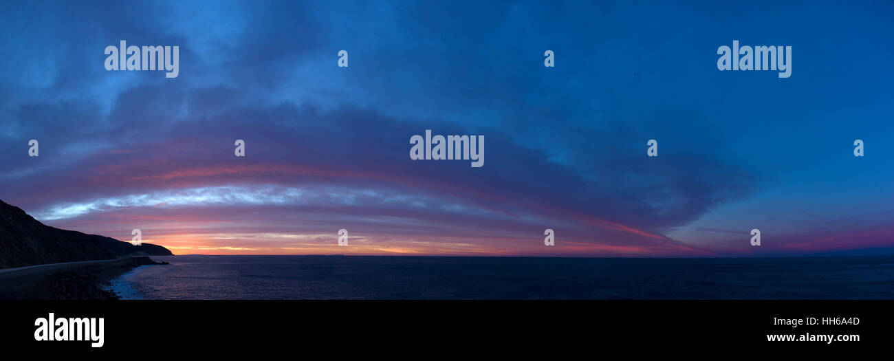 Pacific Ocean in the early morning hours. Stock Photo