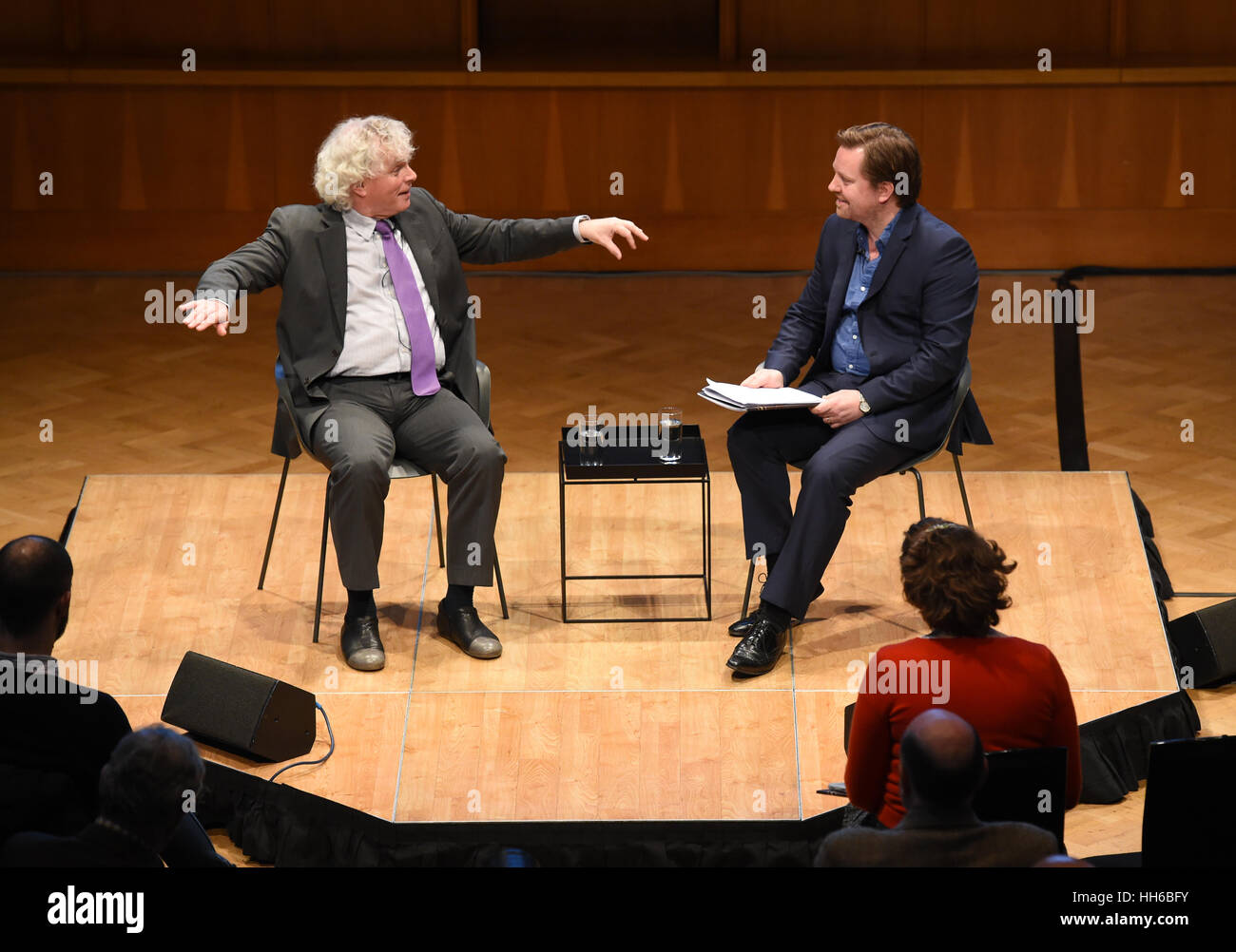 Sir Simon Rattle (left) unveils his future plans for the London