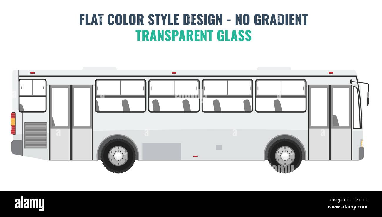 city public bus for advertisement template isolated vector stock
