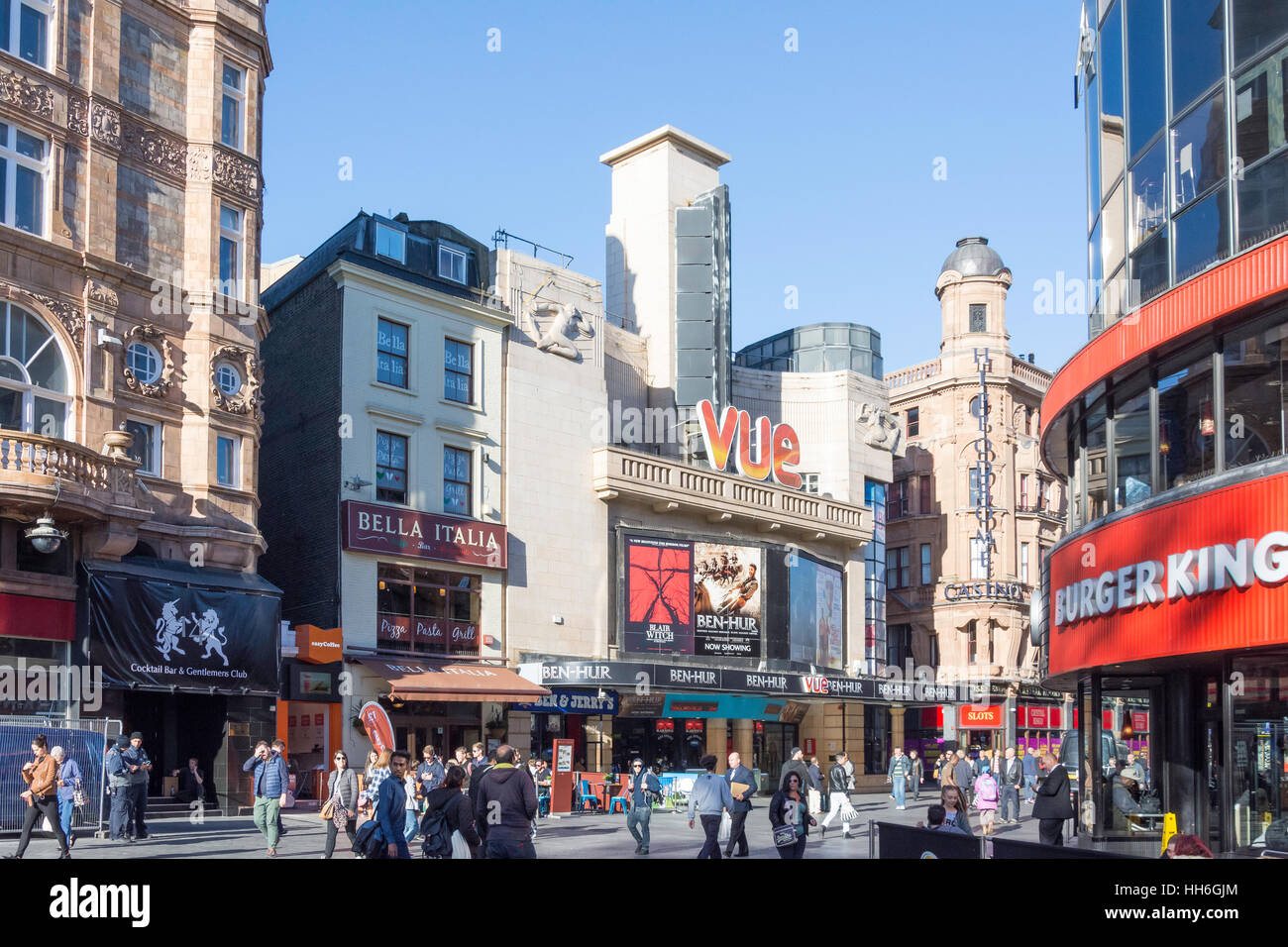 Vue Leicester Square Cinema, Cranbourn Street, Leicester Square, City of Westminster, Greater London, England, United Stock Photo