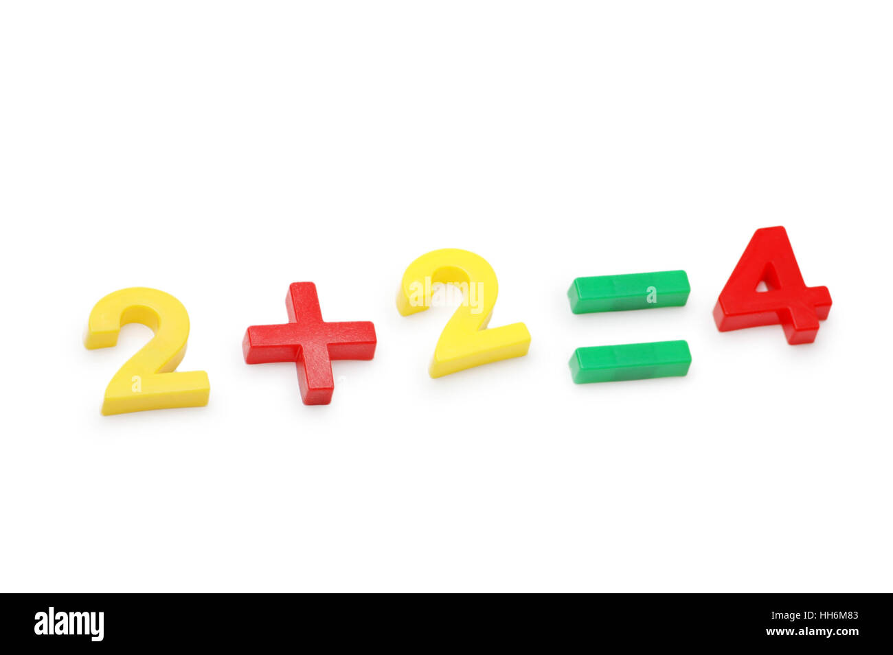 Simple math example - isolated on the white Stock Photo: 131069347 ...