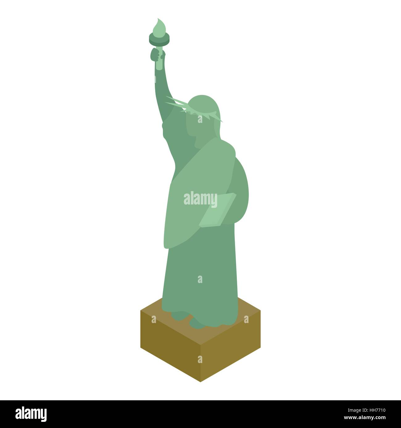 Statue of liberty icon, isometric 3d style Stock Vector