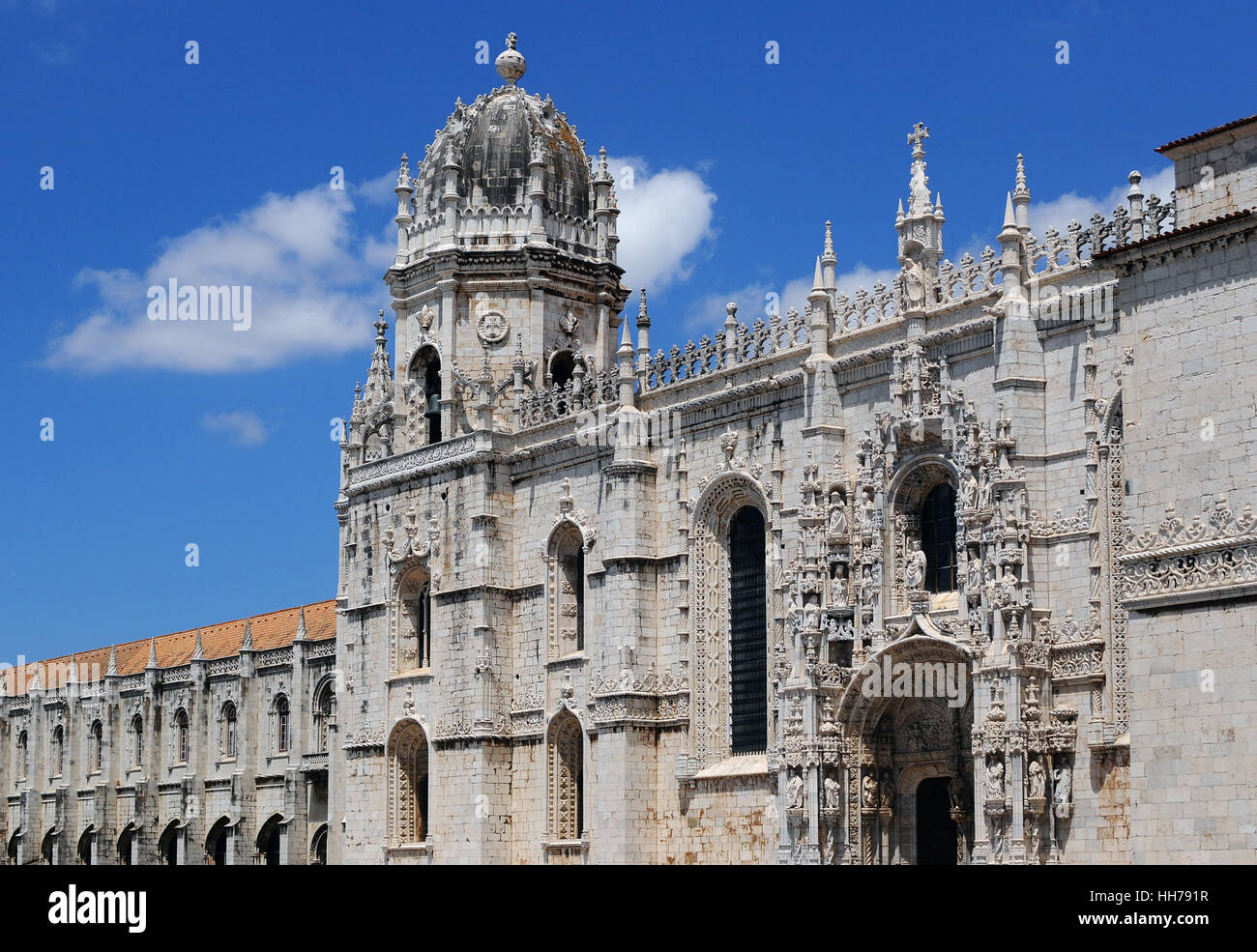 church, museum, front, portugal, monastery, lisbon, convent, blue, religion, Stock Photo