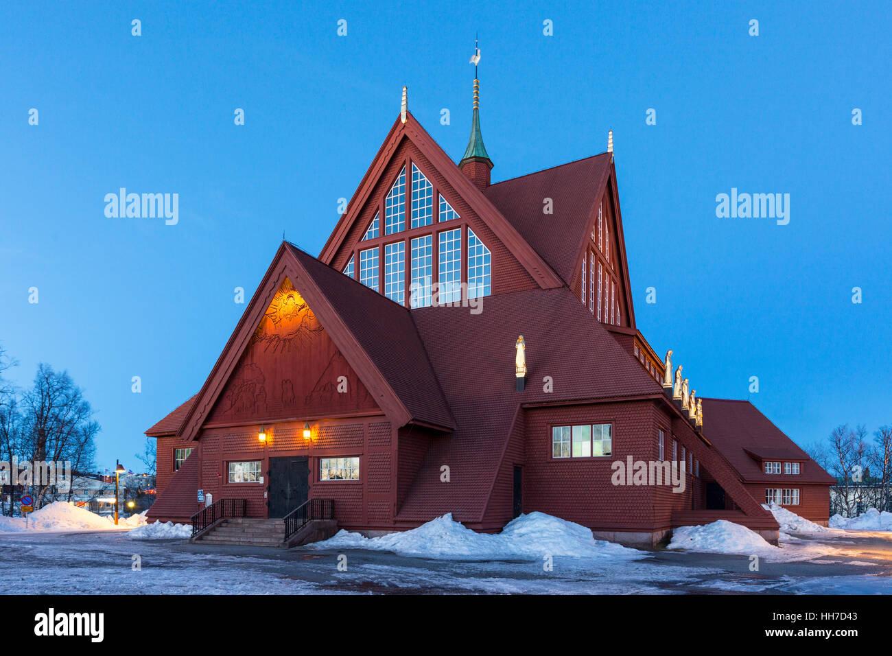 Kiruna Church, Kiruna kyrka, Lapland, Northern Sweden, Sweden - Stock Image