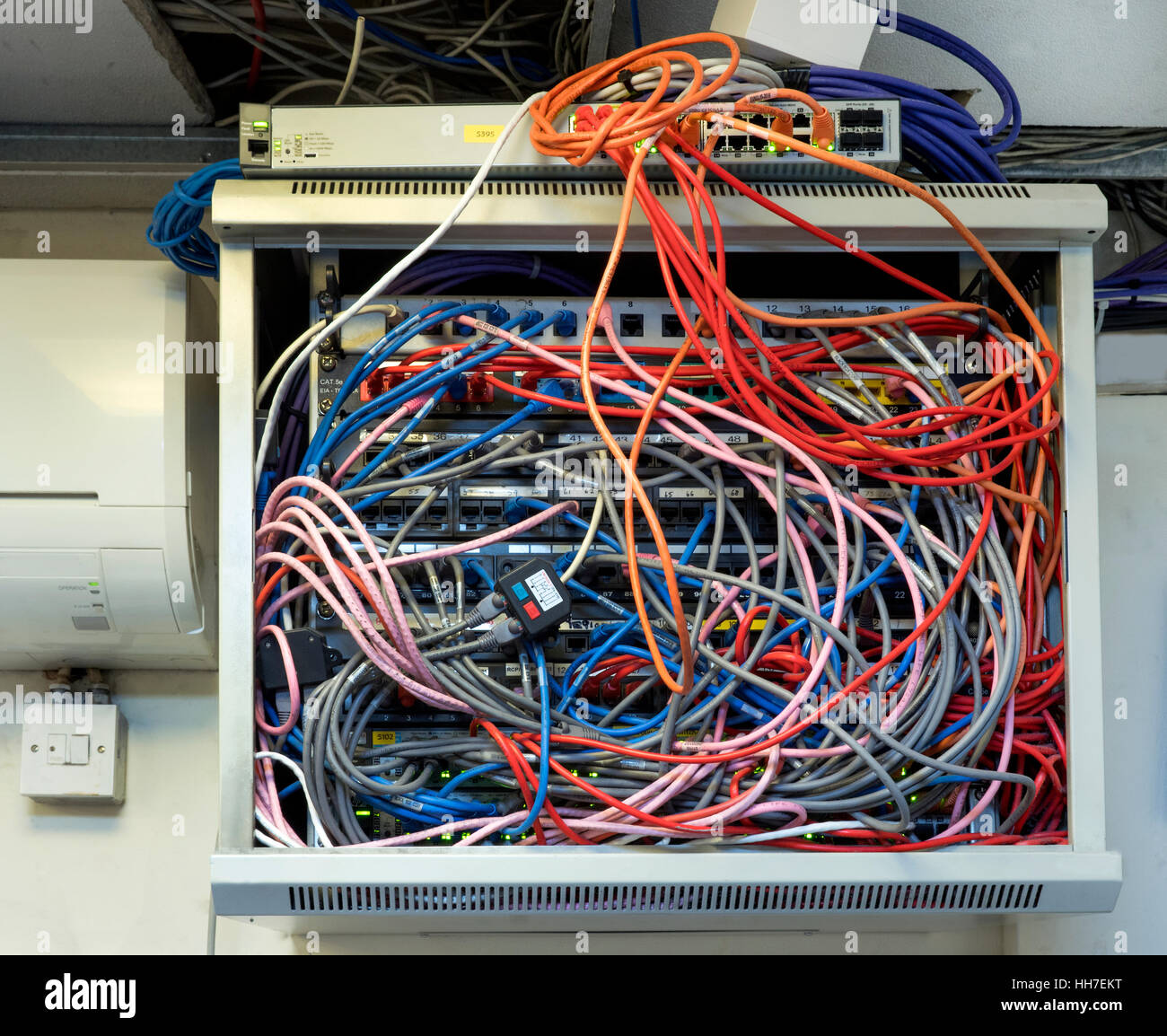 Cable Junction Box Installation In An Office Stock Photo 131086924 How To Wire Electrical