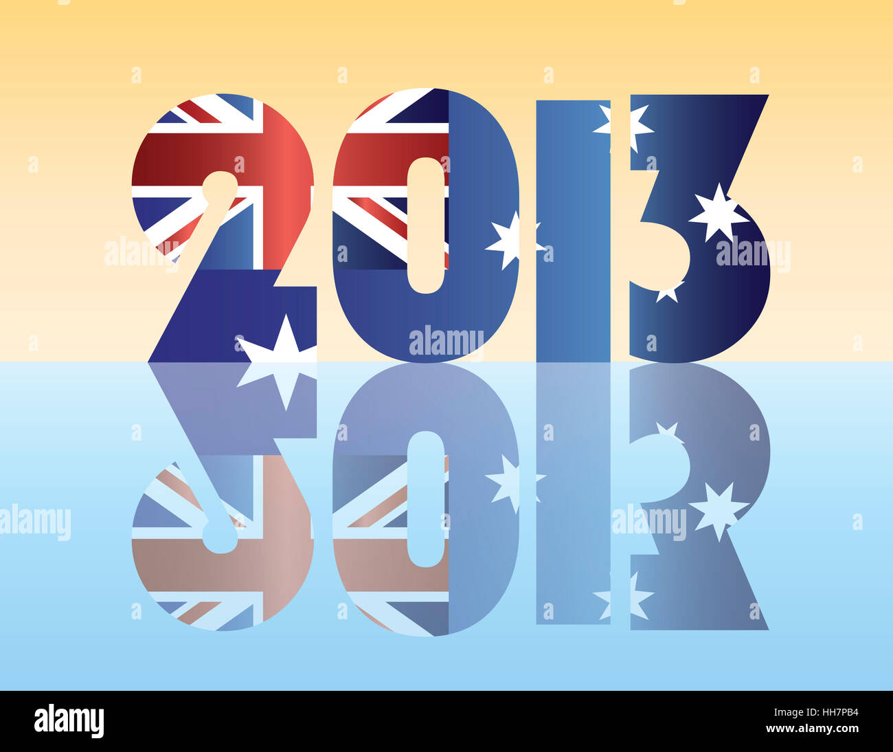 New reflection australia flag south wales years year stock new reflection australia flag south wales years year greeting new m4hsunfo
