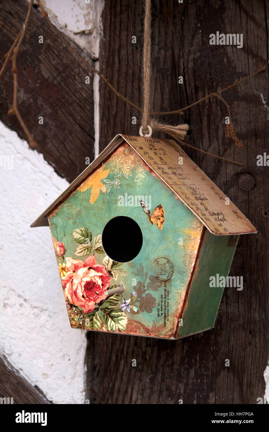 vintage bird house - Stock Image