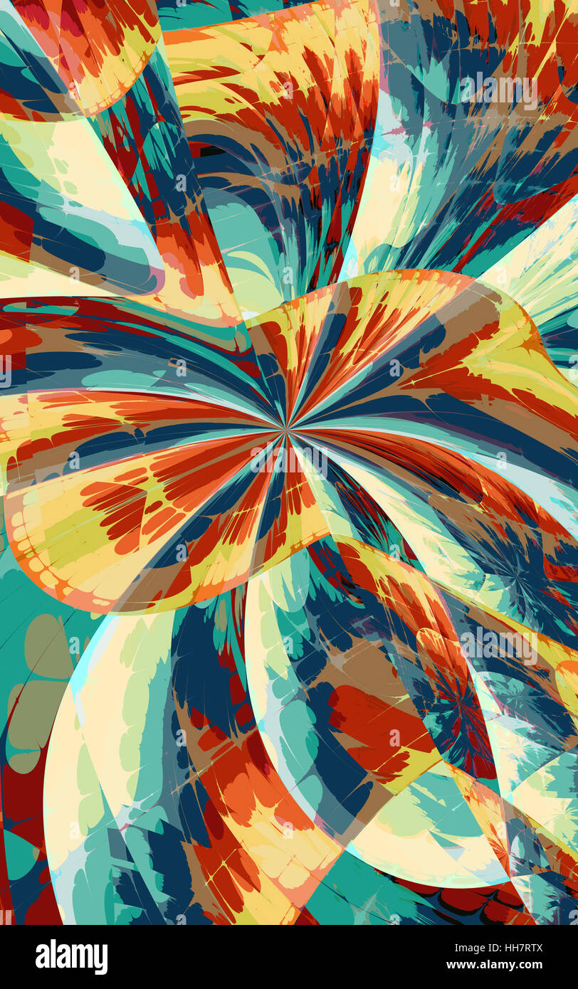 Colorful abstract design - Stock Image
